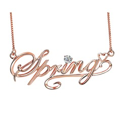 Personalized Ladies' Sparking With Round Cubic Zirconia Name Necklaces For Bridesmaid/For Mother