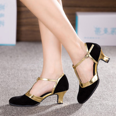 Women's Nubuck Heels Ballroom Dance Shoes