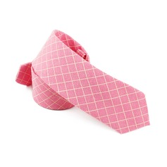 Grid Cotton Tie