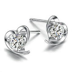 Sparking Zircon/Metal Ladies' Earrings