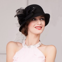 Ladies' Charming Autumn/Winter Wool With Bowler/Cloche Hat (196075467)