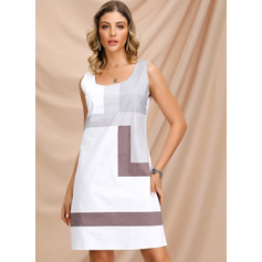 A-Line Square Neckline Knee-Length Homecoming Dress