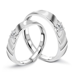 Classic 925 Sterling Silver Couples' Rings