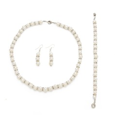 Gorgeous Alloy/Pearl With Rhinestone Ladies' Jewelry Sets (011027681)