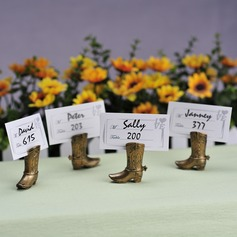 Vintage Style Shoes Design Resin Place Card Holders