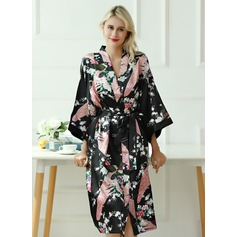Charmeuse Bride Bridesmaid Floral Robes (248178684)