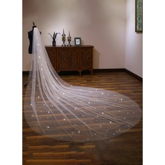 One-tier Cut Edge Cathedral Bridal Veils With Lace (006190591)