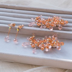 Beautiful Crystal Combs & Barrettes (Set of 2)