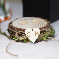 Delicate/Personalized Rustic/Woodland Wood Ring Holder
