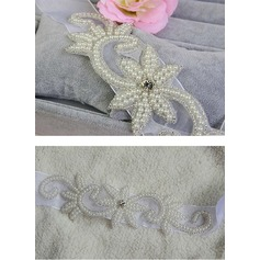 Gorgeous Ribbon Sash With Rhinestones/Imitation Pearls