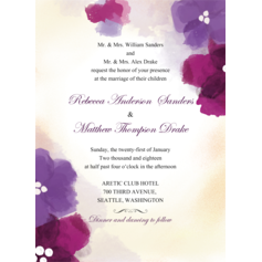 Floral Contentment Wedding Cards
