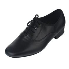 Men's Real Leather Heels Modern With Lace-up Dance Shoes (053060071)