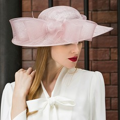 Ladies' Romantic/Vintage/Artistic Cambric With Imitation Butterfly Fascinators/Kentucky Derby Hats