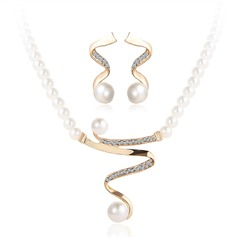Shining Alloy Imitation Pearls Women's Jewelry Sets