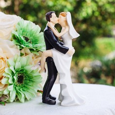 """Sweet Moment"" Polyester Wedding Cake Topper"