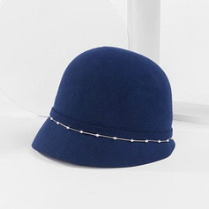 Ladies' Classic/Elegant/Pretty Wool With Pearl Bowler/Cloche Hats