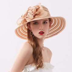 Damer' Klassisk stil/Enkel polyester Beach / Sun Klobúky/Kentucky Derby Hattar/Tea Party Hattar