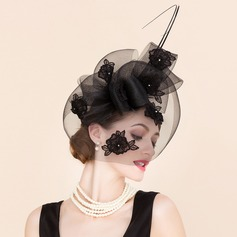 Ladies' Beautiful Cambric With Rhinestone Fascinators