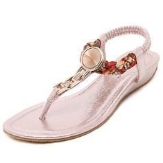 Women's Leatherette Low Heel Sandals With Rhinestone shoes