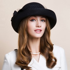 Ladies' Nice Autumn/Winter Wool With Bowler/Cloche Hat