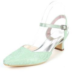 Women's Silk Like Satin Stiletto Heel Pumps With Buckle
