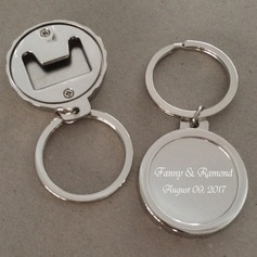 Personalized Round Stainless Steel/Zinc Alloy Keychains