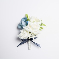 Charming Free-Form Fabric Boutonniere (Sold in a single piece) -