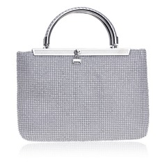 Elegant Crystal/ Rhinestone/Alloy Clutches/Top Handle