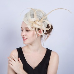 Ladies' Exquisite/Eye-catching/Romantic Cambric With Feather Fascinators/Kentucky Derby Hats