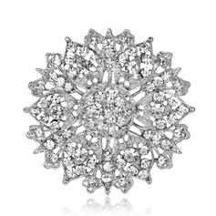 Beautiful Alloy Rhinestones Ladies' Fashion Brooches (Sold in a single piece)