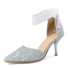 Women's Sparkling Glitter Stiletto Heel Closed Toe Pumps Sandals With Sequin