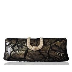 Elegant Lace/Alloy Clutches