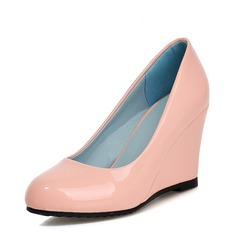 Women's Patent Leather Wedge Heel Pumps Wedges With Others shoes