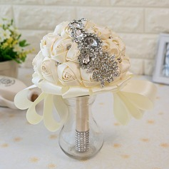 Girly de Rond Satiné Bouquets de mariée -