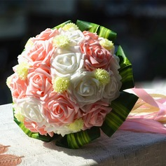 Charming Round Foam Bridal Bouquets