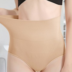 Women Classic/Elegant Chinlon/Nylon Breathability/Moisture Permeability High Waist Panties With Jacquard Shapewear