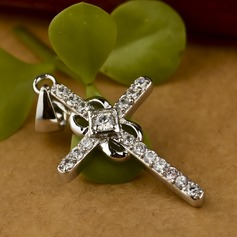 Cross Silver Plated Ladies' Fashion Necklace