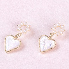 Bride Gifts - Personalized Fascinating Imitation Pearls Sterling Silver Jewelry Earrings
