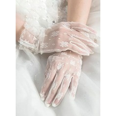 Tulle/Lace Wrist Length Bridal Gloves (014203339)