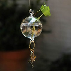 Diameter 8cm Beautiful Elegant Hanging Glass Vase (Sold in a single piece)