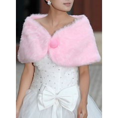 Faux Fur Polyester Wedding Wrap