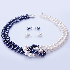 "Attractive Pearl/""A"" Level Pearl Ladies' Jewelry Sets"