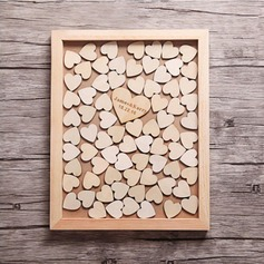Drop Heart Wood Guestbook