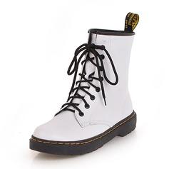 De mujer Cuero Tacón bajo Botas Botas al tobillo con Cordones zapatos