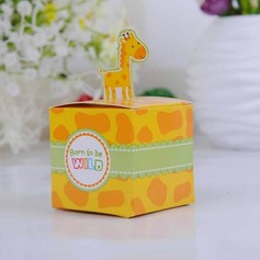 Cute Giraffe Cubic Favor Boxes