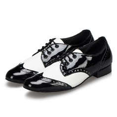 Men's Leatherette Pumps Sneakers Latin Ballroom Swing Practice Character Shoes With Lace-up Dance Shoes