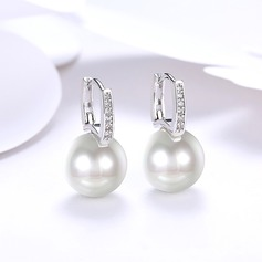 Shining Pearl Copper Ladies' Fashion Earrings