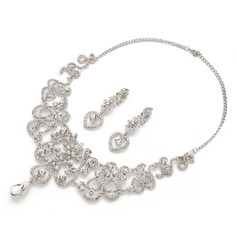 Sweet Heart Alloy/Rhinestones Ladies' Jewelry Sets