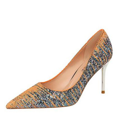 Women's Sparkling Glitter Stiletto Heel Pumps With Sequin Sparkling Glitter shoes