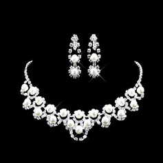 Fashional Alloy/Pearl With Rhinestone Women's Jewelry Sets
